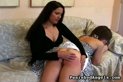 Young brunette hand spanking