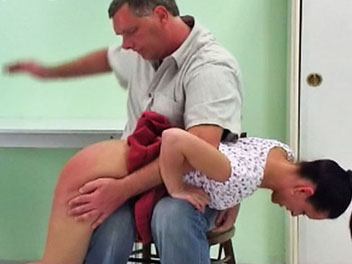 Spanked in a Skirt