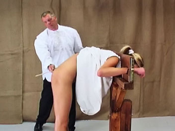 Caned in a Guillotine