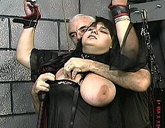 Hardcore Tit Whipping