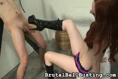 trio inch heels whack against his balls