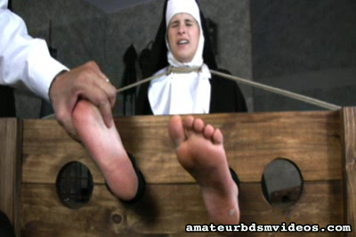 Foot self torment