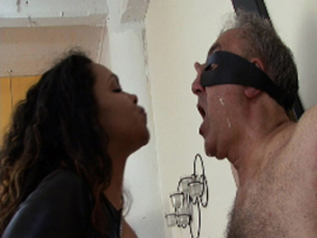 Ebony Spitting Fetish