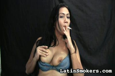 Busty MILF Smoking Fetish Model