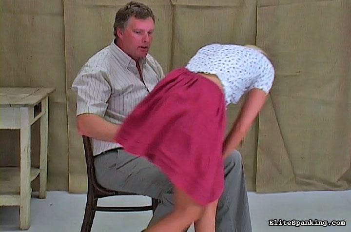 Bent over the bed and spanked