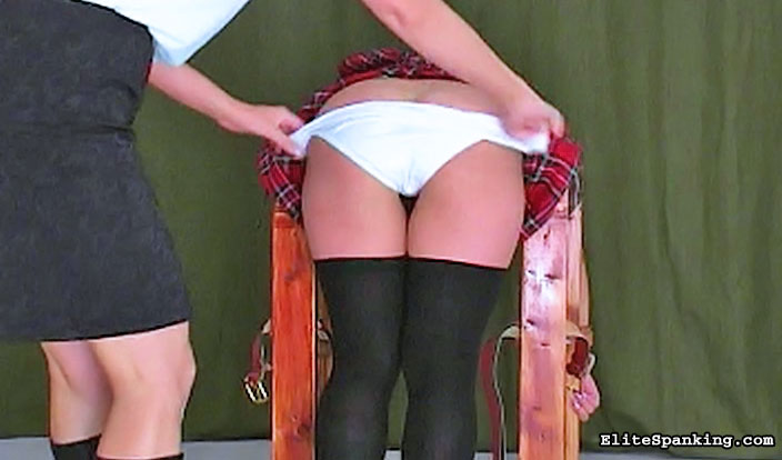 03 Mature Male Spanking   School Of Pain Real girls get severely punished and have their bottoms spanked