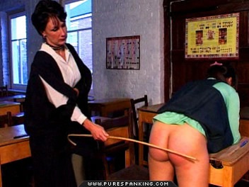 03 Dad Spanks Me High School   Caned In First Day